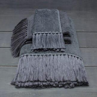 drap de bain gris anthracite éponge haut de gamme