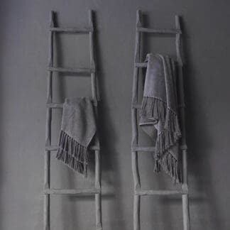 Pollux luxury grey bath linen long fringes