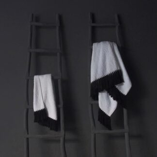 pollux bath towels black 2