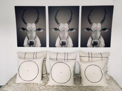 timeless hand embroidered cushion yam dar kawa