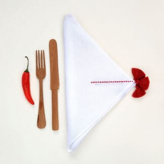 high-quality hand-embroidered table linen 100% cotton or linen