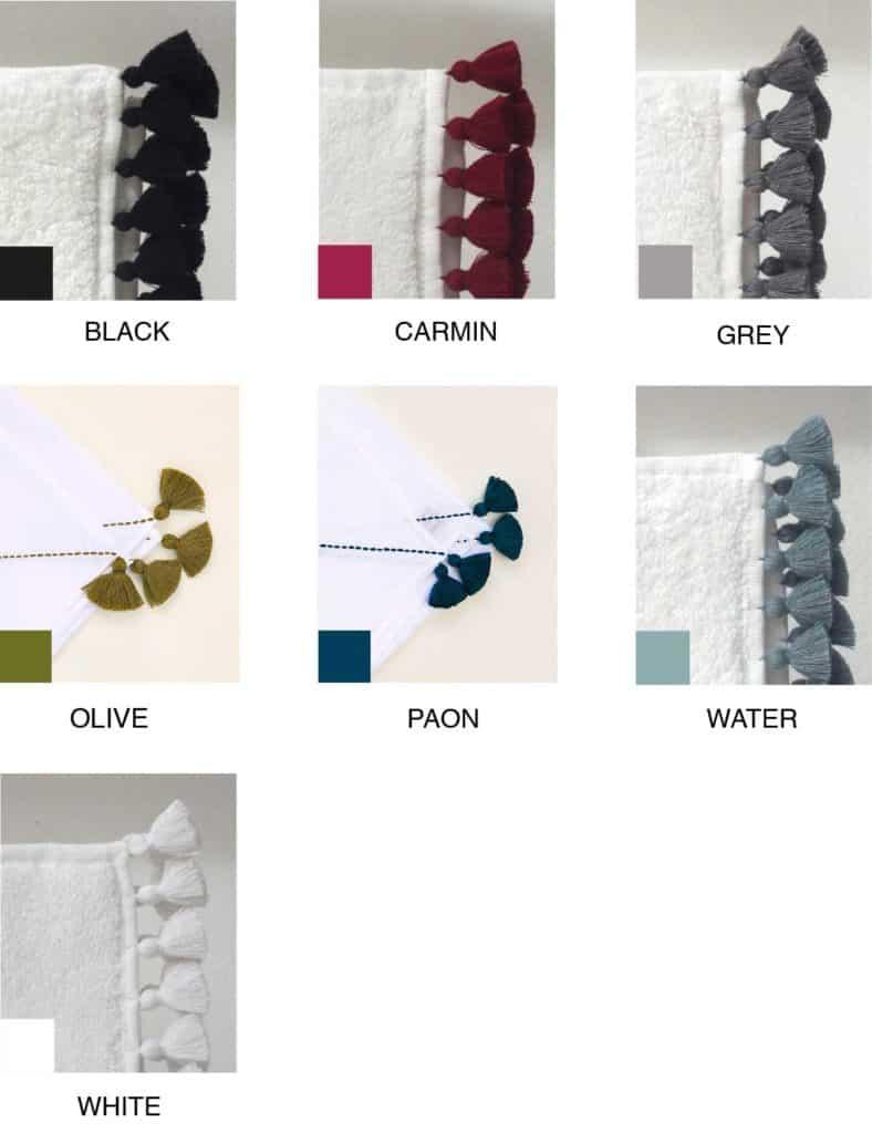 linge de maison sur mesure coloris unis V.Barkowski