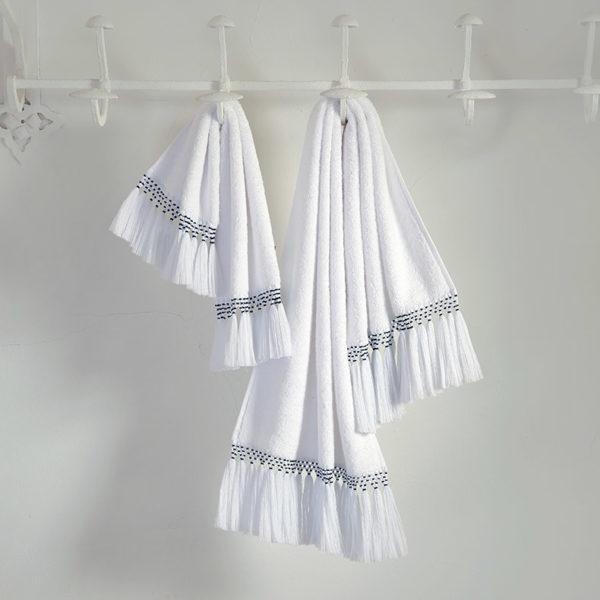 linge de bain raffiné hiro éponge blanche