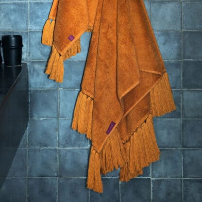 terry bath towel amber