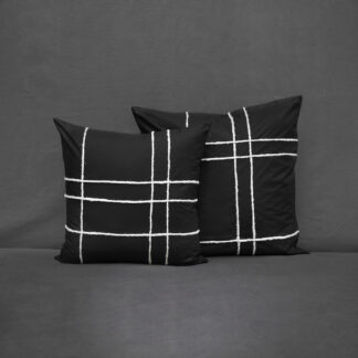 black cushion wool hand-embroidery V.Barkowski
