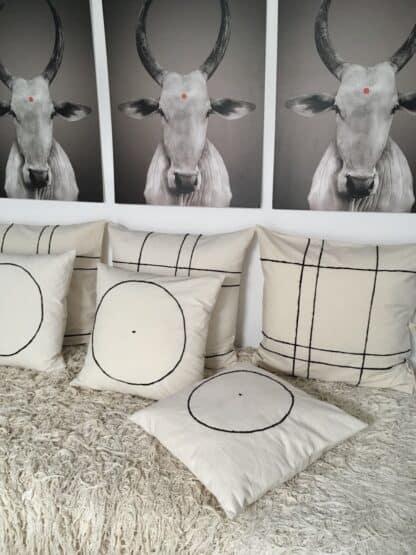 cushion cover hand-embroidery Karo V.Barkowski