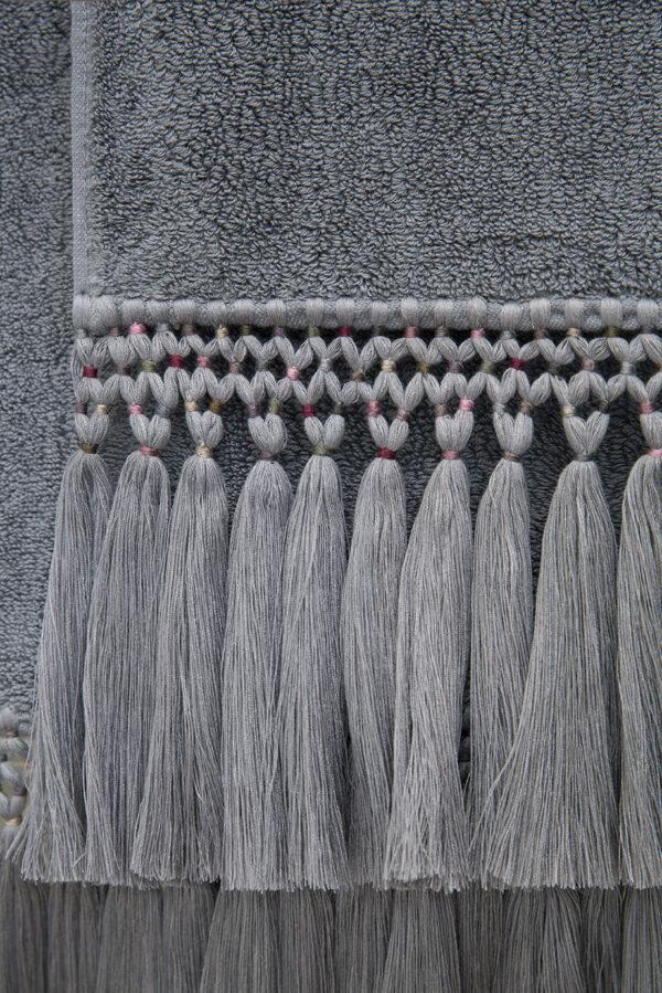 serviettes éponge grise hiro