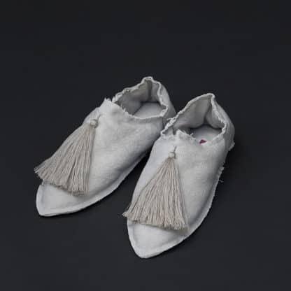 babouches beige coton valerie barkowski
