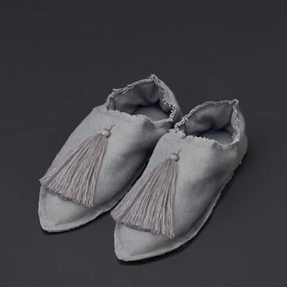 babouches grises