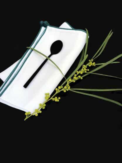 serviette table lin blanc valerie barkowski