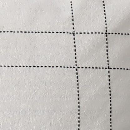 housse de coussin carreau detail