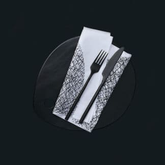 DOTS table linen black